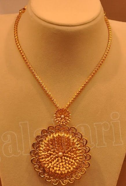 Simple gold necklace by malabar gold jewellery designs jewellery simple gold necklace by malabar gold jewellery designs aloadofball Images