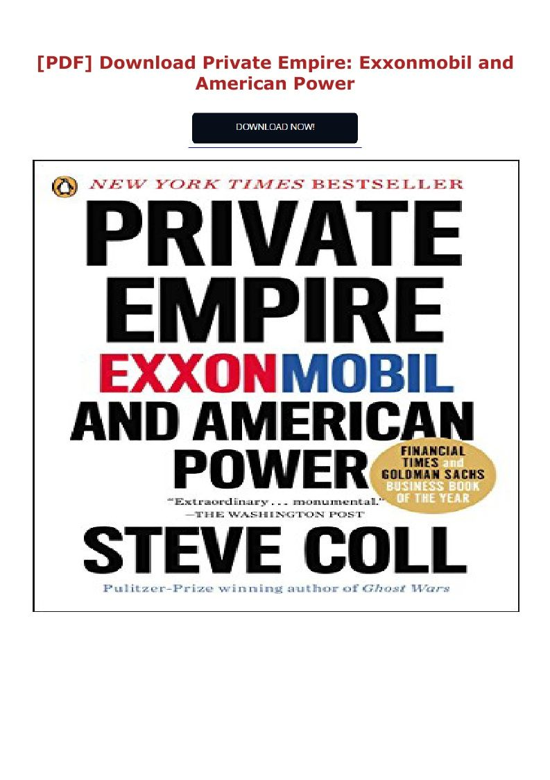 Download Pdf Private Empire Exxonmobil And American Power Ebook