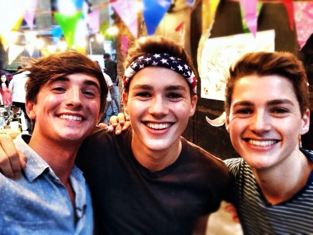 Donal Skehan, Jack Harries and Finn Harries ...Well this is just the best picture ever