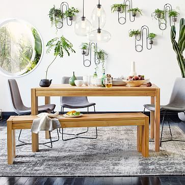 W X D X H Boerum Dining Table Solid European Oak - West elm boerum dining table