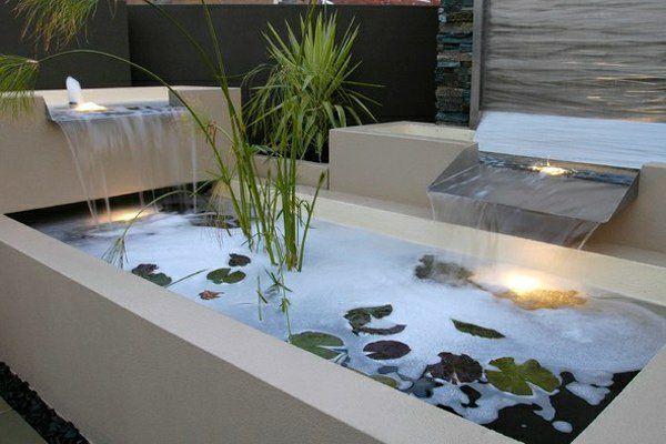 Décoration de jardin moderne avec bassin aquatique   DeCo   Jardin ...