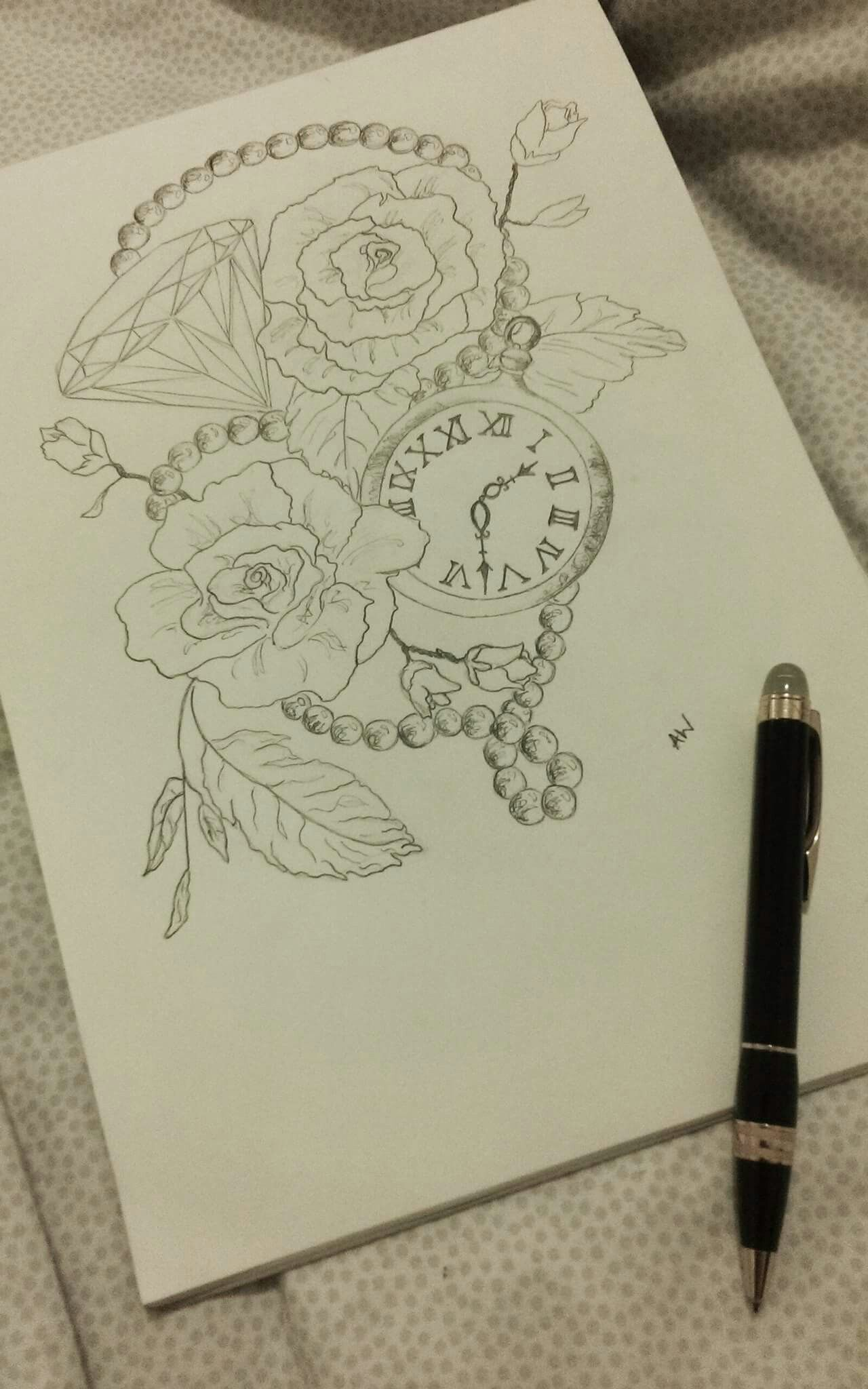 Spent the day sketching my next tattoo instagram: @alexwarrenx  Check out my website: www.tumbledgems.co.uk
