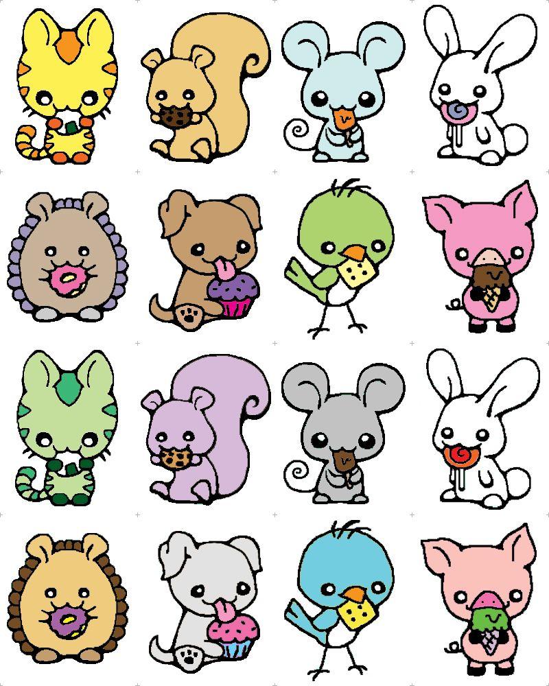 Nomimals Kawaii Animals with Treats by happysquidmuffin