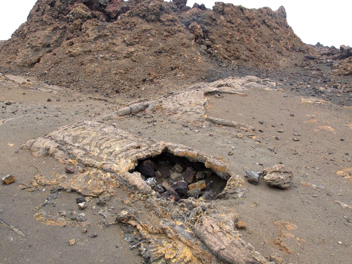 Galapagos, Bartolome, old lava tunnels. We went into one of those on Santa Cruz.