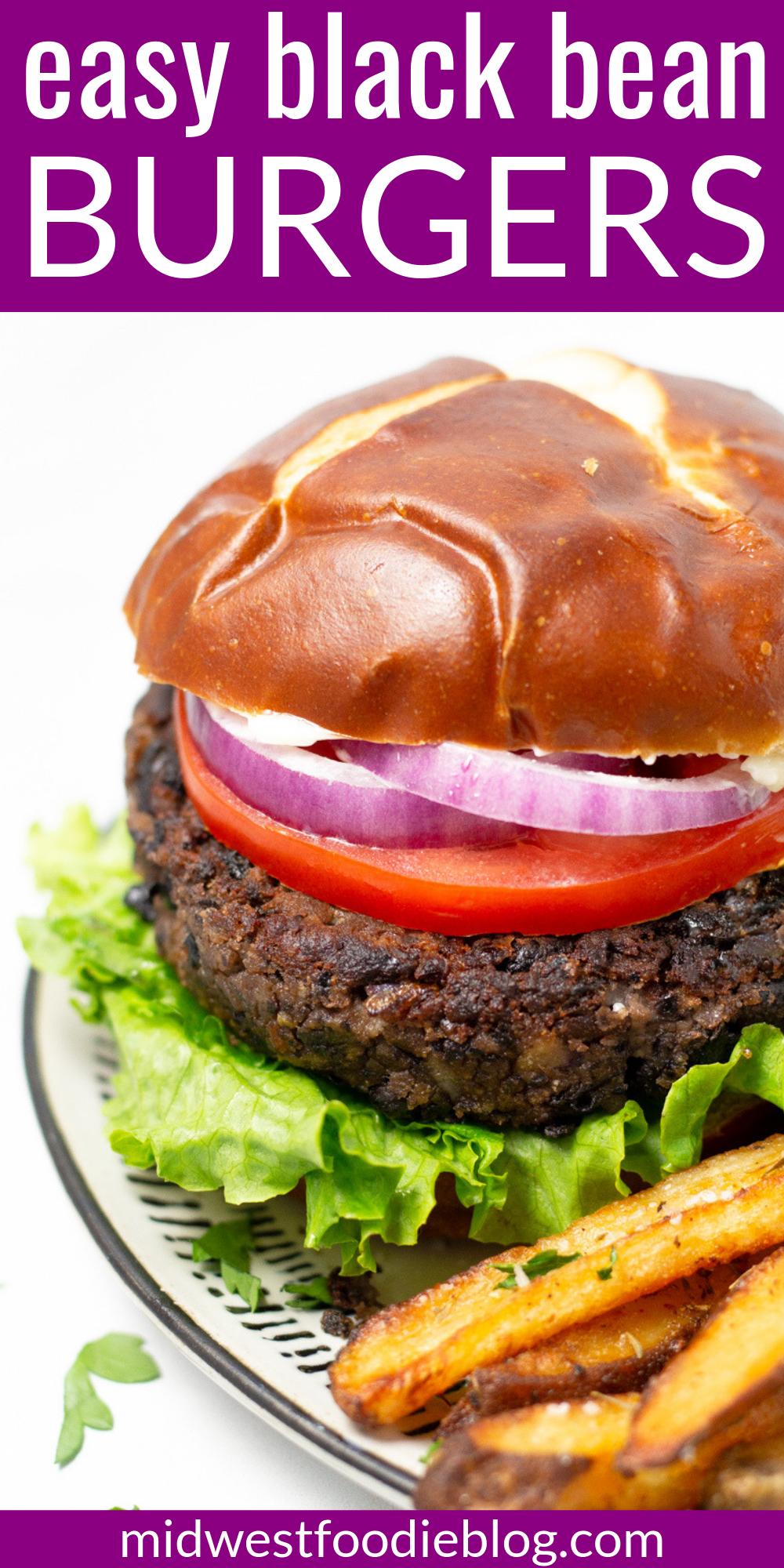 Hearty Black Bean Burger Recipe Bean Burger Black Bean Burgers Family Dinner Recipes
