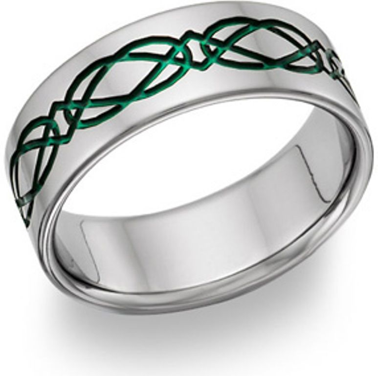 Mens Celtic Wedding Bands With Emeralds Celtic Wedding Bands Celtic Wedding Rings Irish Wedding Rings