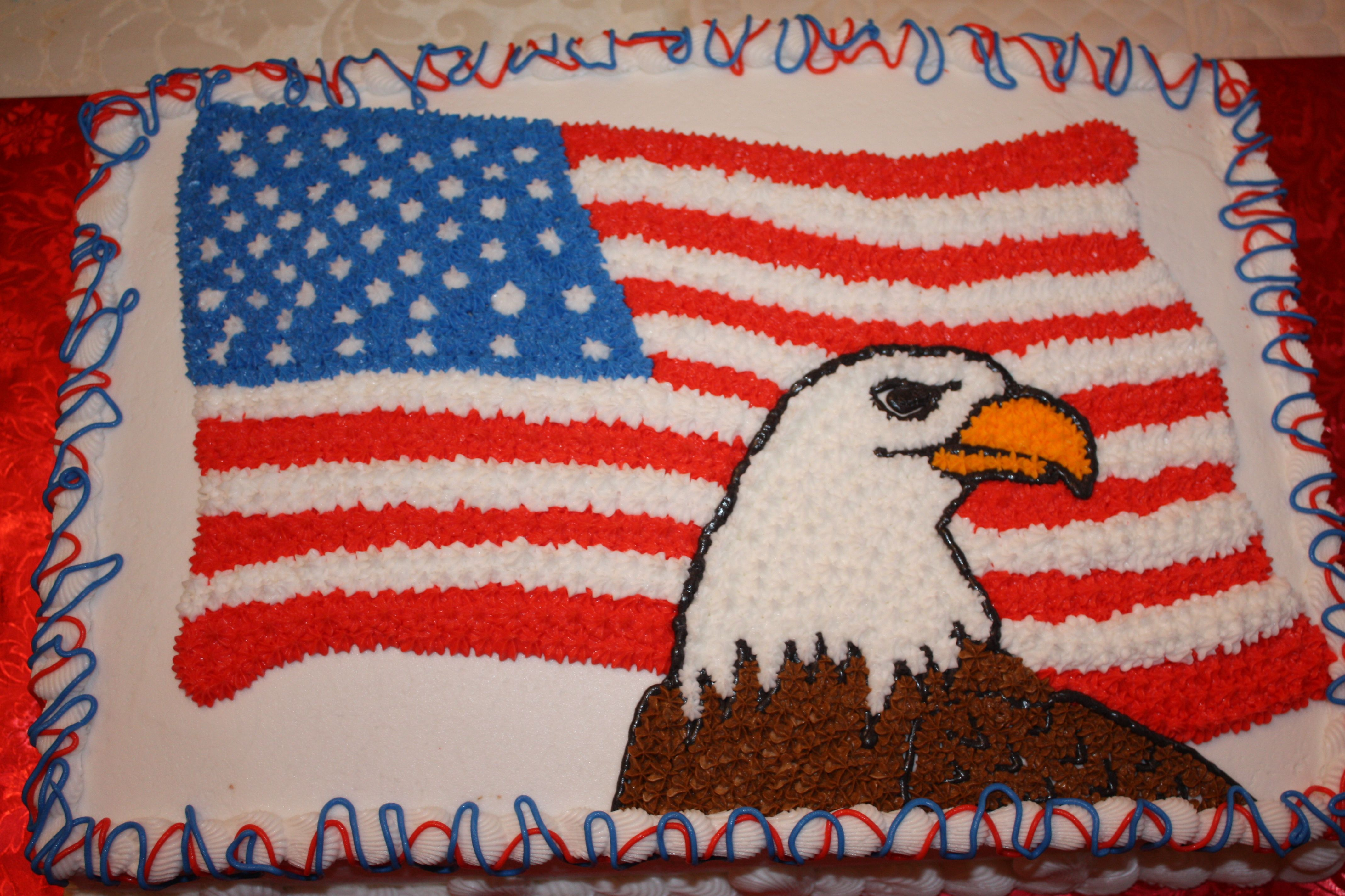 Veterans Day Cake Patriotic Cake Patriotic Cake Decorating