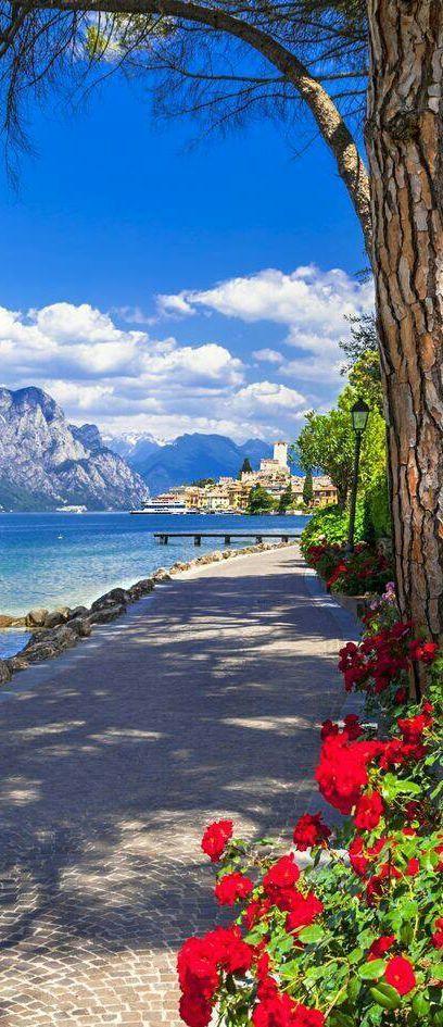 Amazing view of Lake Garda, Italy