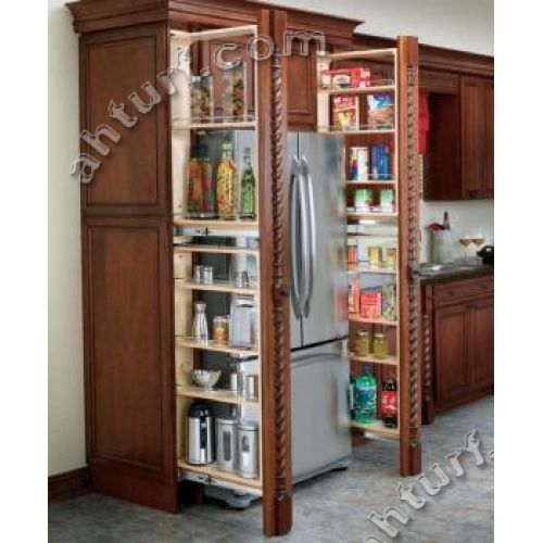 Ikea Kitchen Filler Pieces: Filler Pullout Organizer With Wood Adjustable Shelves Tall