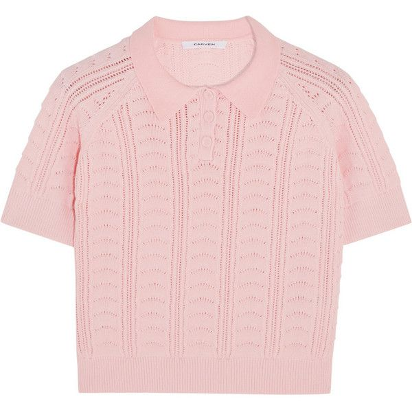 With Credit Card Sale Online Carven Woman Knitted Cotton-blend Top Pink Size S Carven Free Shipping Latest Collections For Nice Sale Online 2k3vtE