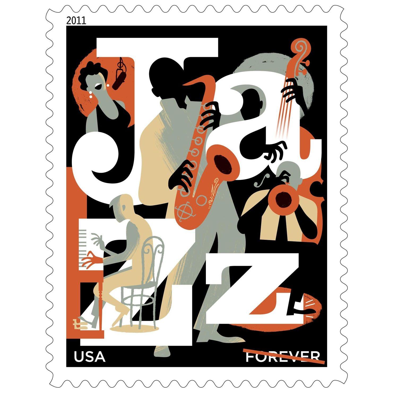 Inspiration Postage Stamps Postage stamp design, Jazz