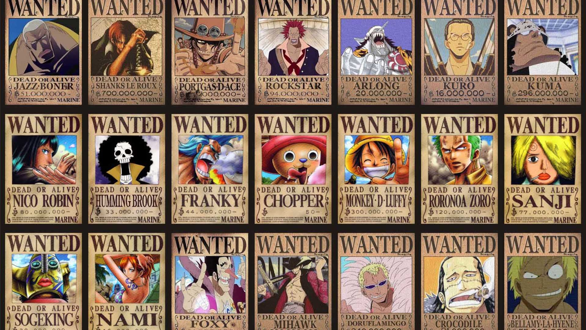 Download One Piece Anime Movie Wanted wallpapers วอลเป