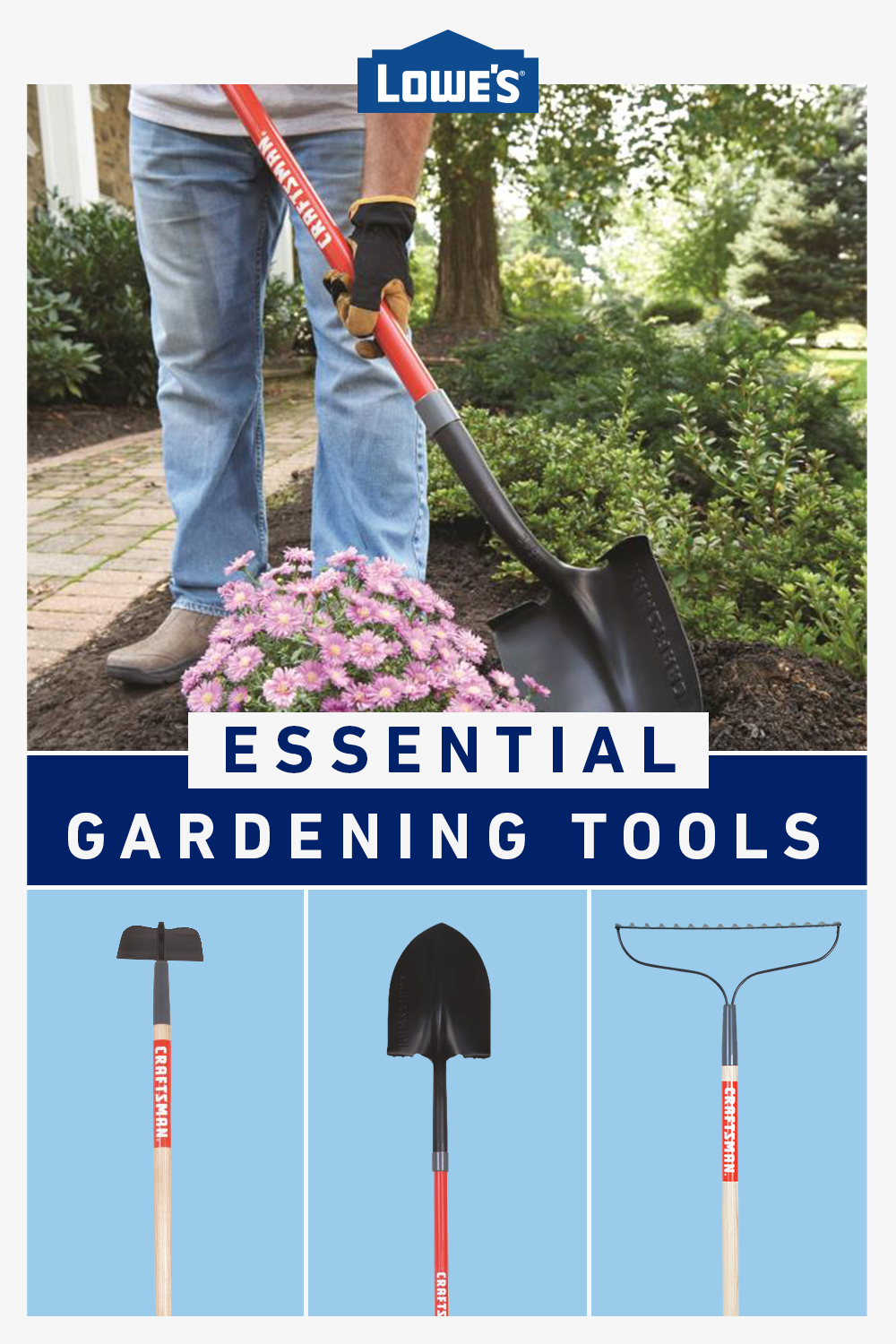 Shop Gardening Tools From Lowe S In 2020 Garden Tools Lawn And