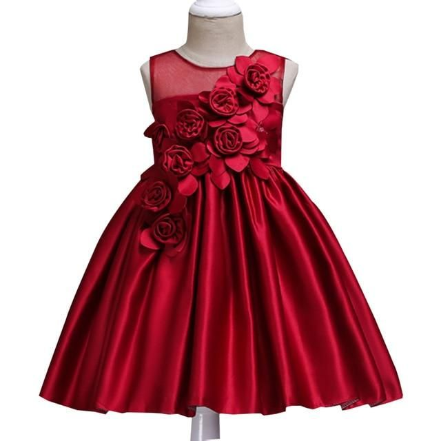 80452f45 Girls dreses 2017 2-3-4-5-6-7-8 yrs Kids embroidery Formal Dress Evening  Gown Flower Wedding Princess Dress Girls Party Dress