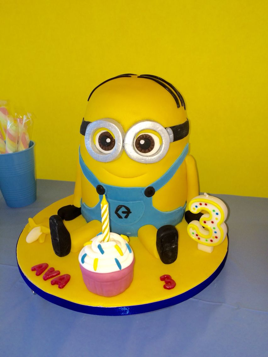 Dave minion Avas 3rd birthday cake Made by me Pinterest
