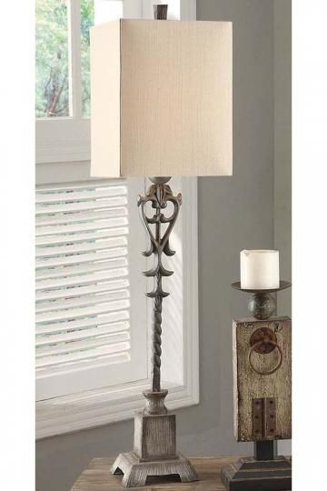 Farrah Buffet Lamp   Tall Buffet Lamps   Metal Table Lamps   Cottage Style  Table