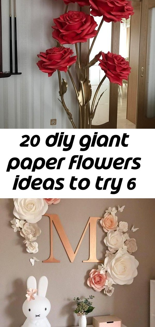 20 diy giant paper flowers ideas to try 6 #giantpaperflowers