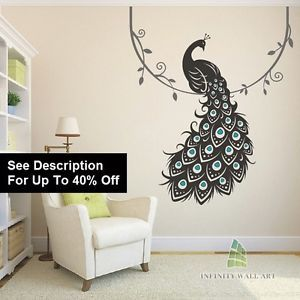 wall art design decals. Kids Wall Decals  Decal Sticker Vinyl Art Designs Bird Tree Decorations Challenge Fal Peacock Pin by Ayesha Yalamarthy on Mom s wall decoration Pinterest