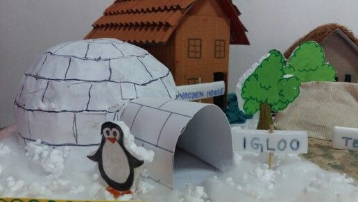 Model Of An Igloo For School Projectmade The Dome Shape