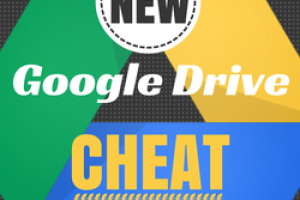 A NEW Google Drive CHEAT SHEET