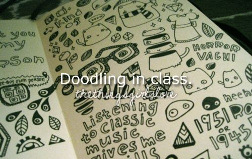 Doodling in class(: