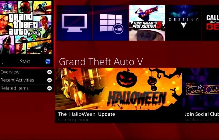Fake Gta V Halloween Dlc Banner Pops Up On Ps4 Halloween Update Gta Gta 5 Cheats Ps4