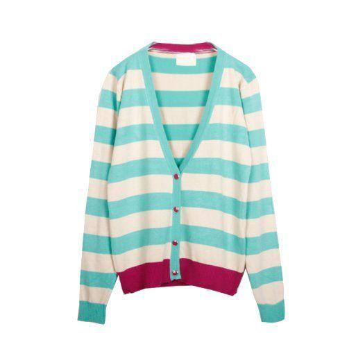 ELLAZHU NWT Autumn Fashion Stripe Colour Block Knit Sweater Cardigan ELLAZHU. $33.95. Size L:Shoulder 45cm (17.7inches)/Sleeve(From Shoulder) 63cm (24.8inches)/Bust 104cm(40.9inches)/ Length 61cm(24inches). Size M:Shoulder 43cm (16.9inches)/Sleeve(From Shoulder) 61cm (24inches)/Bust 100cm(39.4inches)/ Length 60cm(23.6inches). Size S:Shoulder 41cm (16.1inches)/Sleeve(From Shoulder) 60cm (23.6inches)/Bust 96cm(37.8inches)/ Length 59cm(23.2inches). Material: 40% Cott...