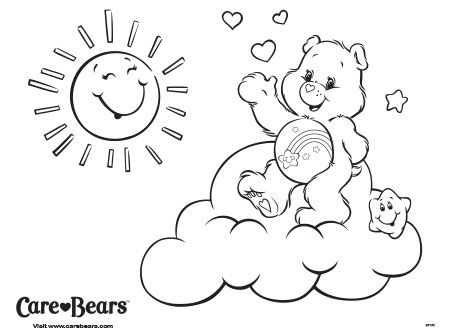 Care Bears | Crafty (80\'s Care Bears) Coloring | Pinterest | Osos