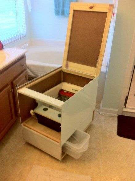 Littermaid Automatic Self Cleaning Litter Box With Many Improvements Built A Box Added A Sho Self Cleaning Litter Box Cat Litter Box Diy Cleaning Litter Box