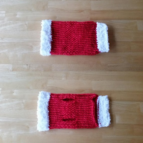 Christmas Dog Sweater, Hand Loom Knit, Size Small
