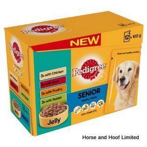 Pedigree Pouch Senior Chunks In Jelly 4 X 12 X 100g Pedigree Dog