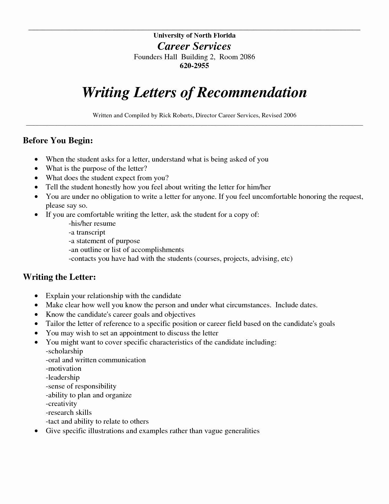 Read This Before You Write! Letter of