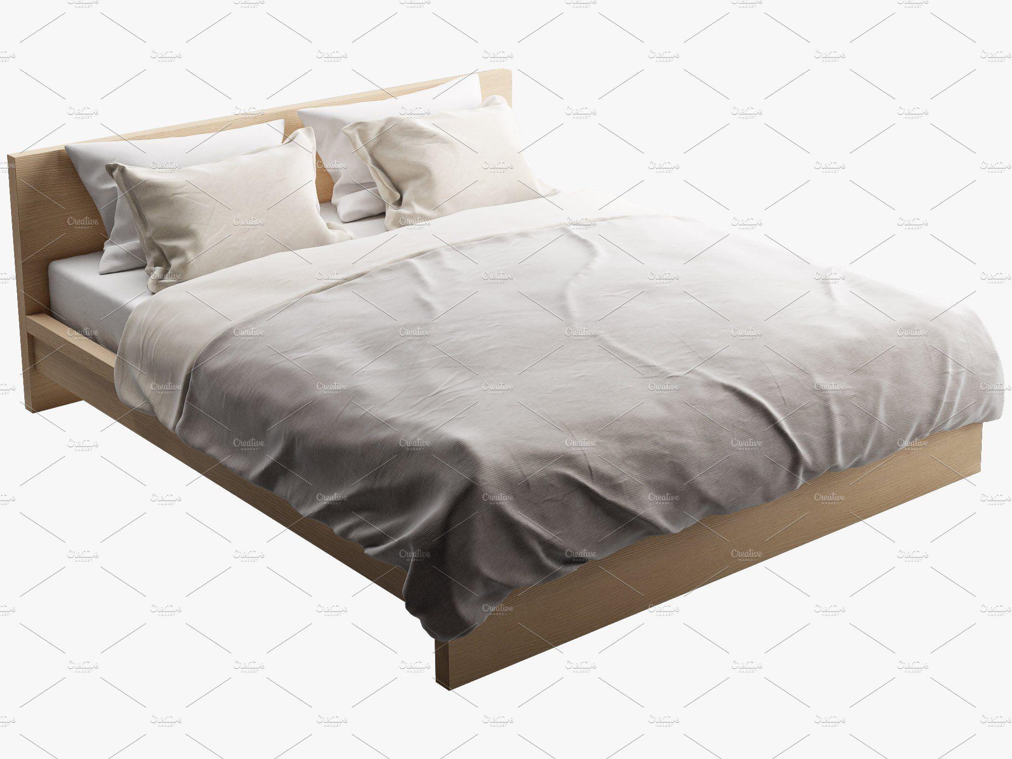 Double Bed 3d Model Bed Bed Furniture Bed Frame