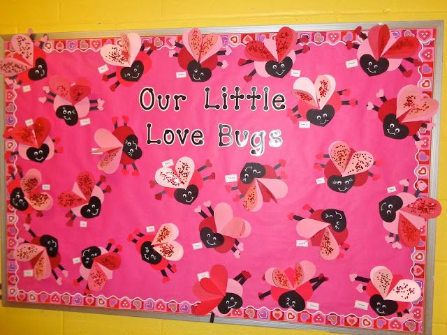 Bulletin Board Valentine S Day Craft Our Little Love Bugs Terrific