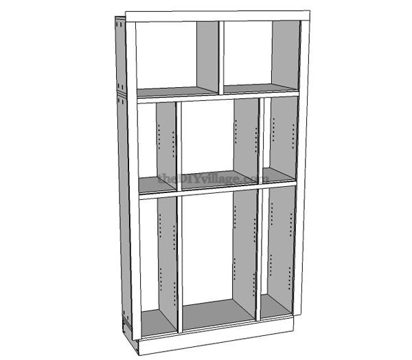 Build  pantry part cabinet plans included the diy village also