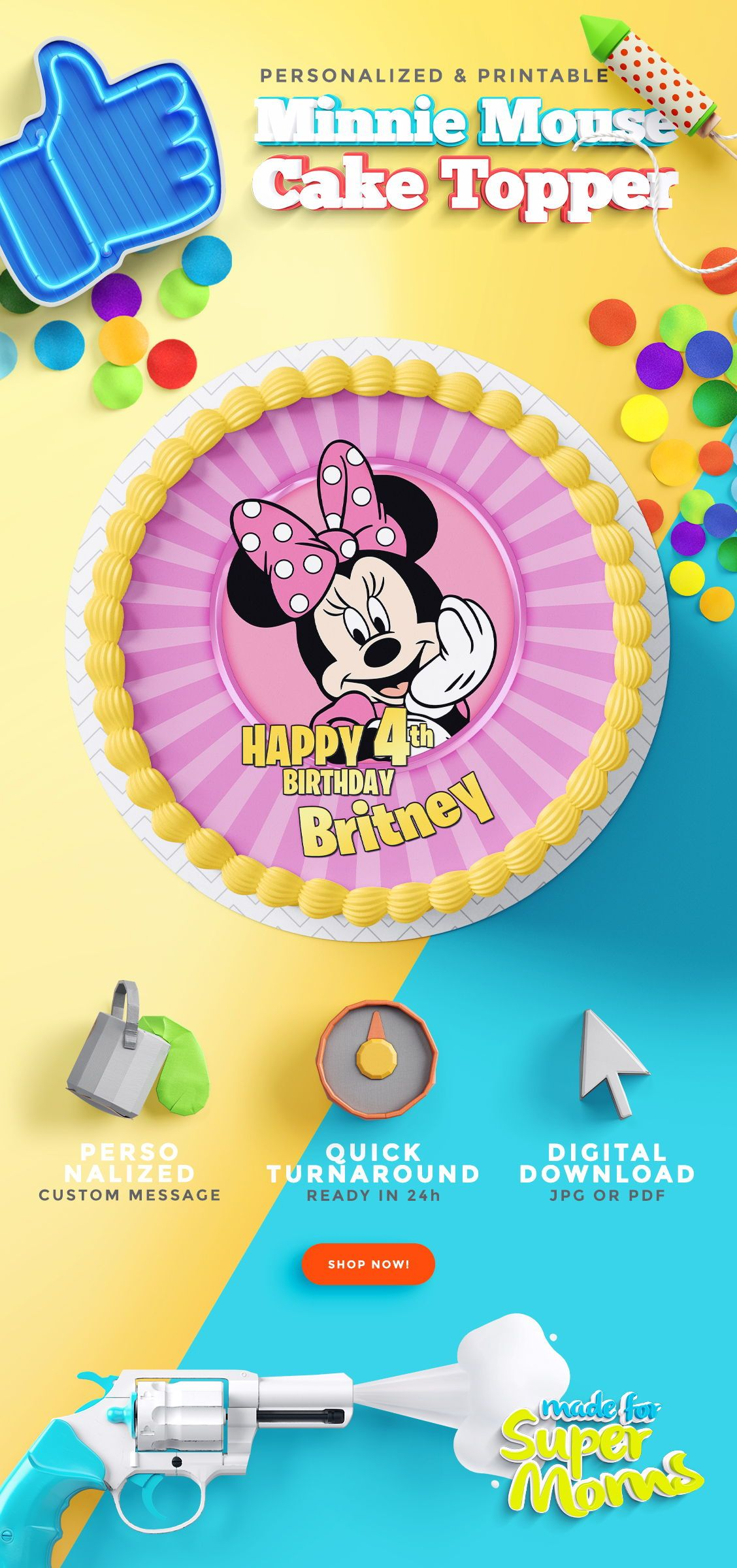 Admirable Minnie Mouse Cake Toppers Minnie Mouse Cake Topper Minnie Mouse Funny Birthday Cards Online Necthendildamsfinfo