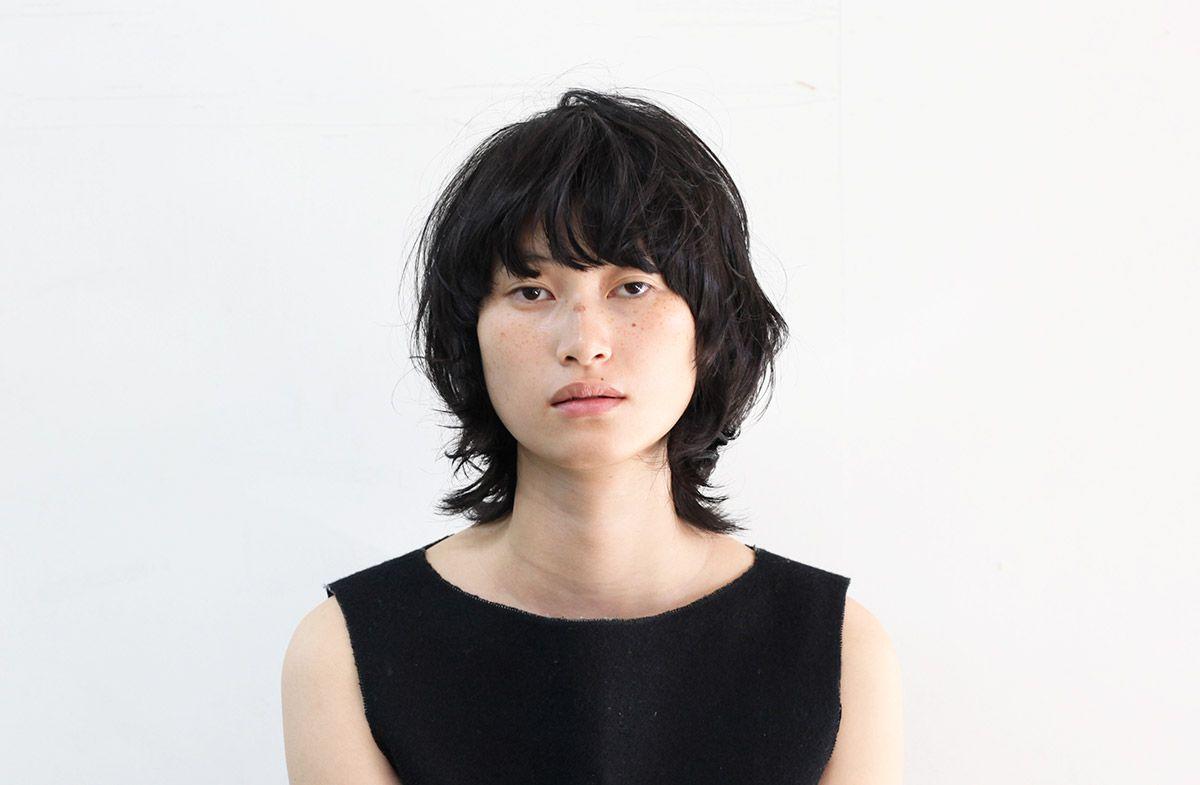 黒髪マッシュウルフ 北條悦子 2015 11 Dot Lim ショートのヘアスタイル ヘアスタイリング 美髪