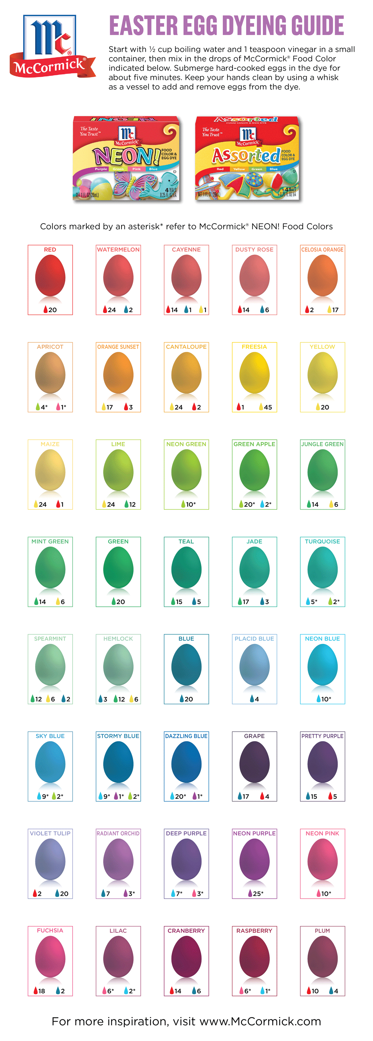 This Chart Will Help You Get Your Easter Egg Dye The