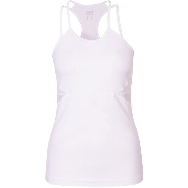 Casall Brilliant Strap Tank (650 SEK) ❤ liked on Polyvore featuring activewear, activewear tops and casall