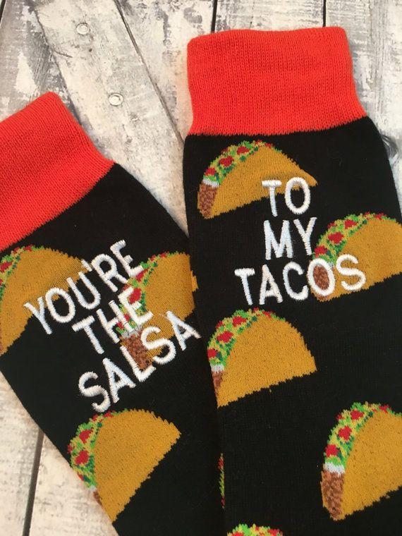 97255f73f4c1 Taco Socks Mens Socks Taco Gift Man Gift by CraftyMommaCompany ...