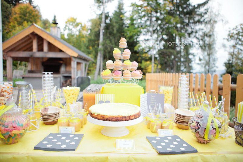 candy bar jaune et gris d coration pour mariage pinterest mariage. Black Bedroom Furniture Sets. Home Design Ideas