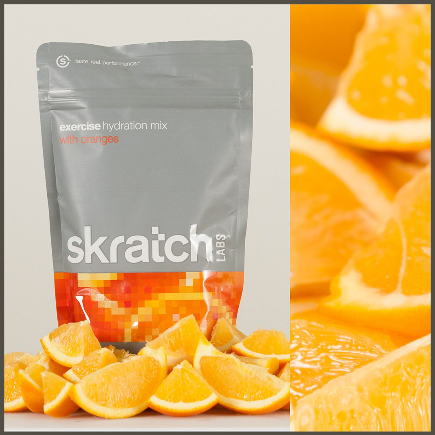 An all-natural orange sports drink that tastes like oranges...well, because it's only flavored with oranges.  Sweat, drink, repeat.  Enjoy. www.skratchlabs.com