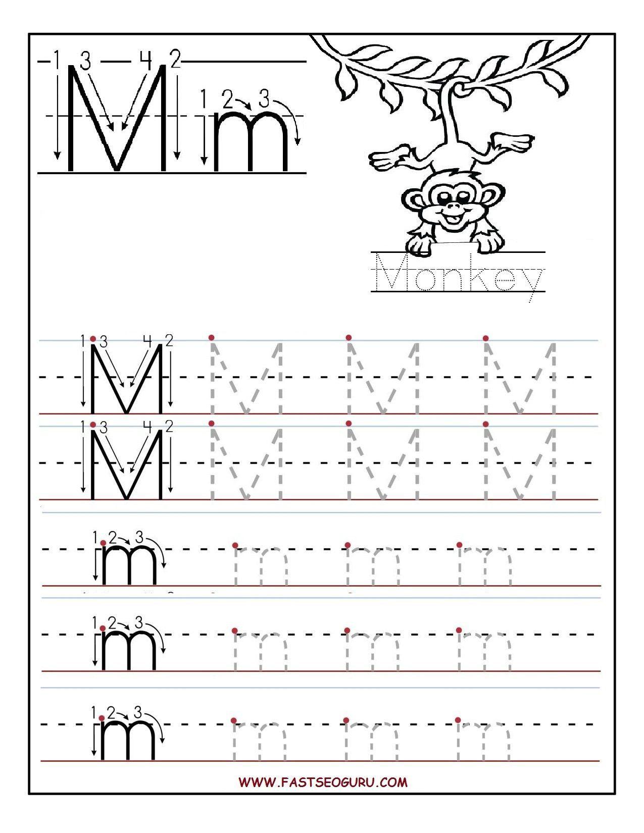 Letter M Worksheet Kindergarten