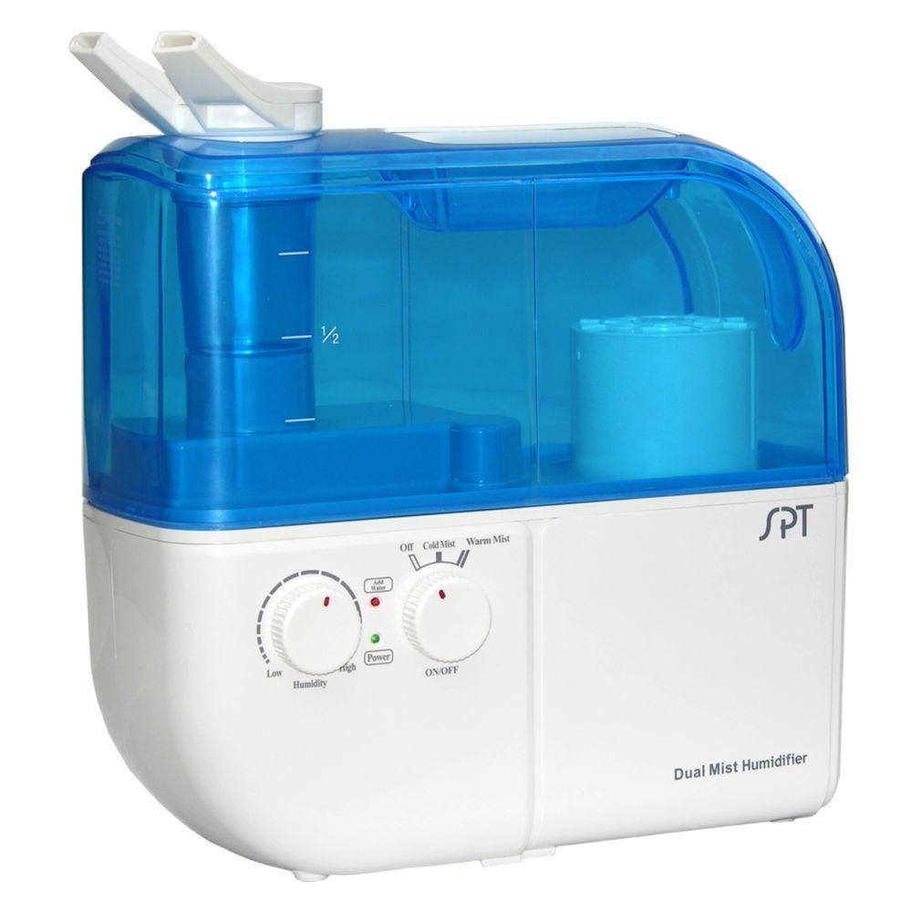 Spt Dual Mist Warm Cool Ultrasonic Humidifier Su 4010 At The Home Depot Best Humidifier Humidifier Cool Mist Humidifier