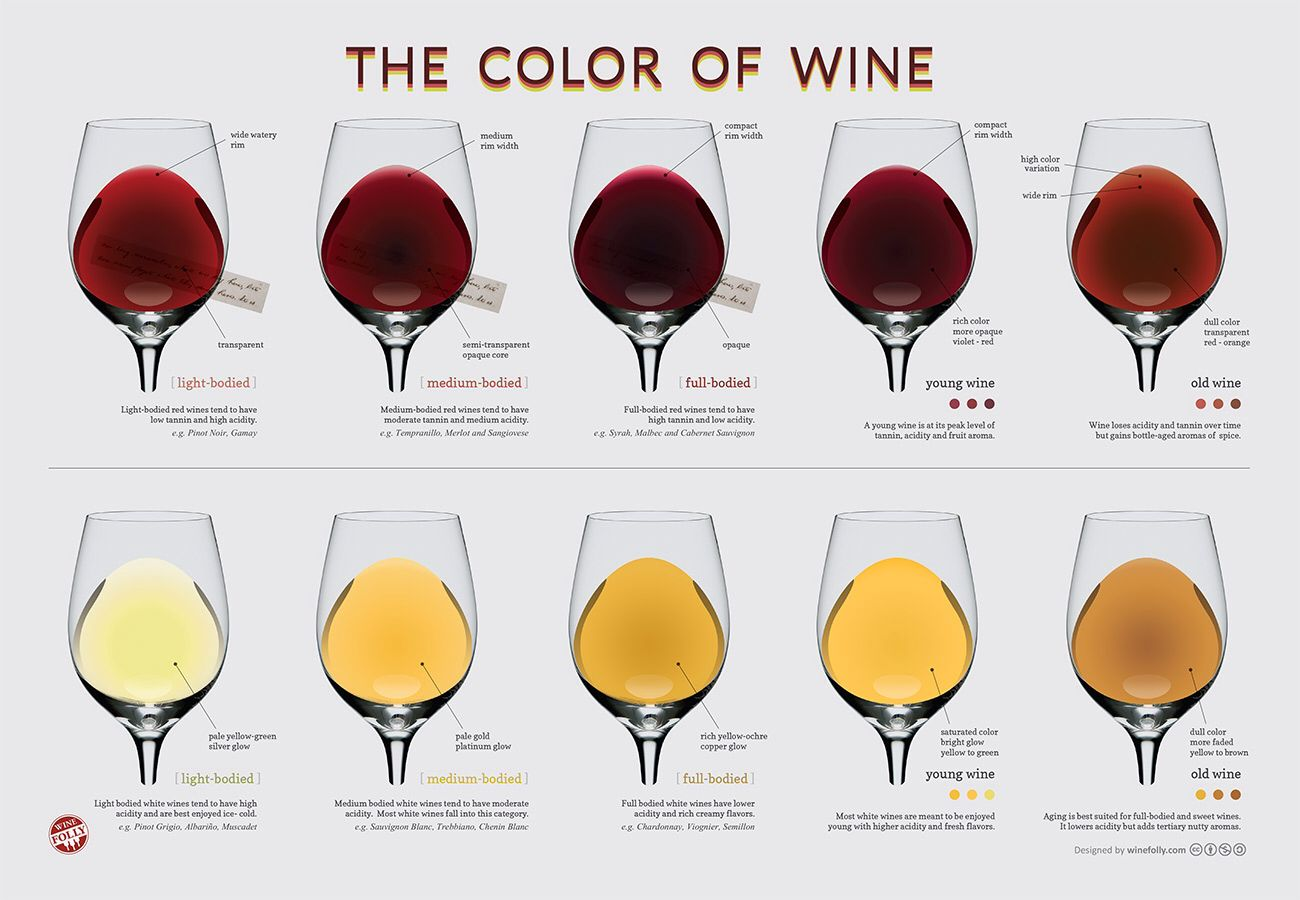 The Color Of Wine Wine Folly Wine Drinks Wine Chart