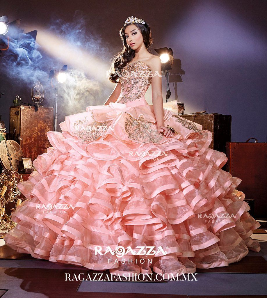 Beaded Ruffled Quinceanera Dress by Ragazza Fashion Style B68-368 ...
