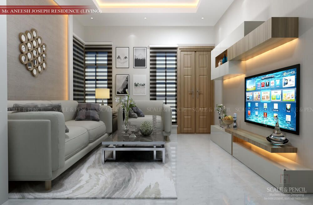 Living Area Living Room Interior Design Kochi Ernakulam