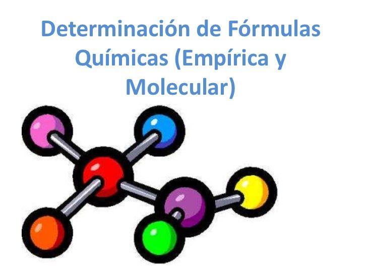 Determinación de fórmulas químicas (empírica y molecular) by ...