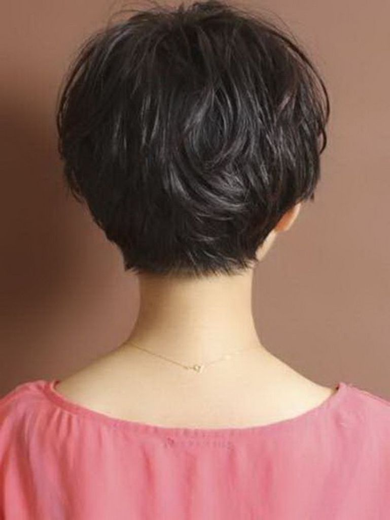 Stylist Back View Short Pixie Haircut Hairstyle Ideas 15 Back View