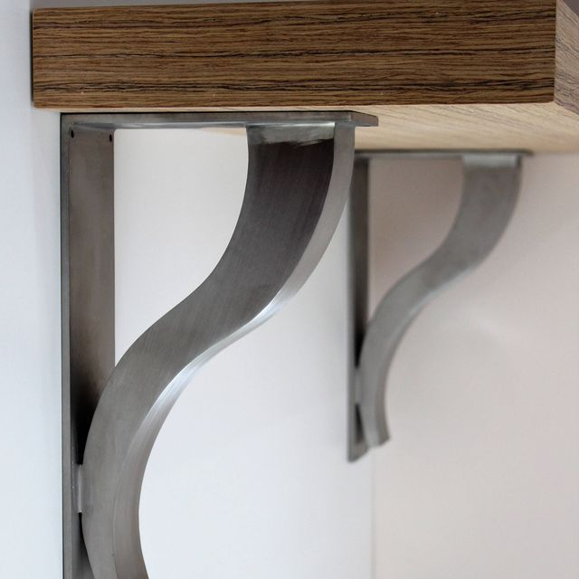 Kitchen Bar Overhang: Stainless Steel Countertop Support Brackets, Architectural